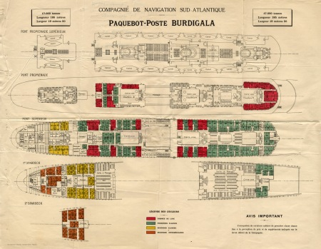 S/S Burdigala Accomodation Plans