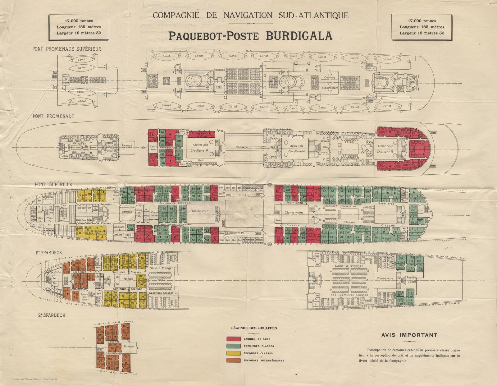 The Sad Story Of S Burdigala Former Kaiser Friedrich 1897 1950 Wiring Diagram Accomodation Plans