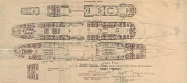 S/S Kaiser Friedrich Acommodation Plans