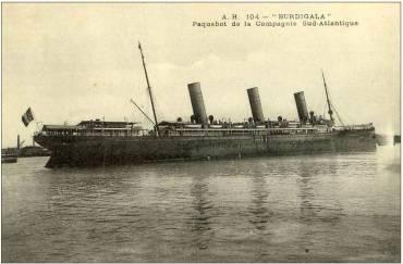 Το S/S Burdigala το διάστημα που αγοράστηκε από την γαλλική εταιρεία Compagnie de Navigation Sud-Atlantique με �δρα το Bordeaux της Γαλλίας. (Andre Durand Collection)